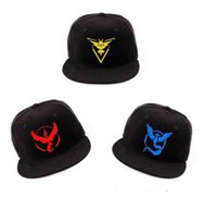 Wholesale Poke Go Adjustable Hat Hottest Pocket Monster Caps Fashion Snapback Hats Best Quality Sports Caps Hip Hop Hats Womens and Mens Summer Cap