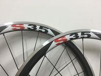 Wholesale front mm rear mm one pair mm deep clincher carbon wheels alloy brake C BIKE wheels