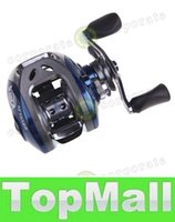 Wholesale LAI NEW BB Ball Bearings Right Hand Baitcasting Fishing Reel Garcia High Speed Carretilha Pesca Blue Black AF103