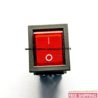 Wholesale NEW Large Rocker Switch KCD2 KCD4 Red PIN files LIGHT A V pieces Rocker Switches