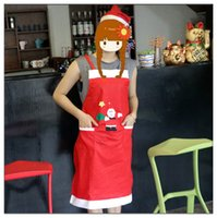 Wholesale Factory Promotion Christmas decorations High grade fabric Universal male and female apron Restaurant and Hote Waiter clothing