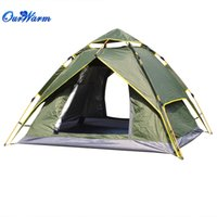 Wholesale Automatic Folding Waterproof Double Layer Tent for Person Camping Hiking Outdoor Device Army Green Blue