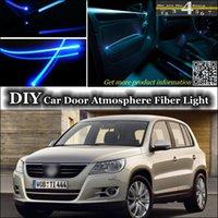 beetle door panel - interior Ambient Light Tuning Atmosphere Fiber Optic Band Lights For Volkswagen VW Beetle A5 Fusca Door Panel illumination Refit