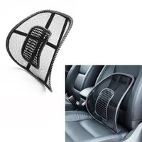 Wholesale Interior Accessories Seat Supports Car Seat Cushion Mesh Cloth Car Back Support Cushion Lumbar Waist Back Support Lumbar Pillow Black Color