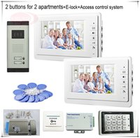 access button color - 2 Buttons Color Video Door Phones Intercom Systems LCD Security Doorbell for Apartments Access Control System E lock