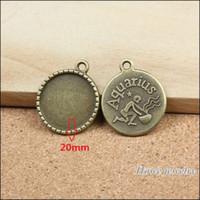 aquarius pendant vintage - New Vintage Charms constellation Aquarius Pendant Ancient bronze Fit Bracelets Necklace DIY Metal Jewelry Making A060