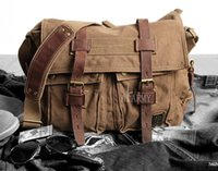 Wholesale New AKARMY fashion bags retro canvas shoulder bag oblique cross casual male bag backpack Large