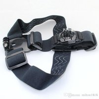 Wholesale Sports Action Camera GoPro Accessories Head Strap Double Mount Adjustable Headstrap Mount Belt Anti Slide Glue Mount For GOPRO HERO