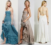 amazon flooring - A Amazon Foreign Trade Best Sellers Suit dress Free People Reveal Back Sandy Beach Longuette Cotton Dress