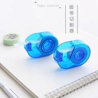 Wholesale Blue Paper Tape Cutter Washi Tape Tape Dispenser Creative Stationery Portable School Supplies cm Width