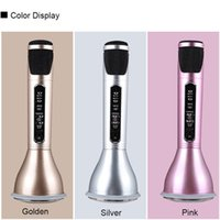 Wholesale K068i Bluetooth Wireless Microphone Super Mini Portable Outdoor Condenser Microphones Karaoke OK Speaker KTV Player Microphone Speakeres