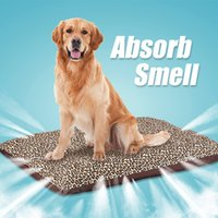 Wholesale Odor absorption pet bed dog waterproof mat for large dog bed cat is the bed soft Leopard Print