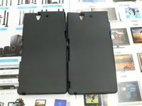 al por mayor z caso de goma xperia-Caucho suave TPU caso para Sony Xperia Z L36H C6602 C6603 teléfono de la cubierta de la cubierta Shell teléfono cubierta de piel Shell bolsa