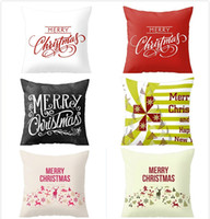 Wholesale Christmas Cover Merry Christmas Cushion Cover Case Pillow Custom Zippered Square Pillowcase x18 One Side