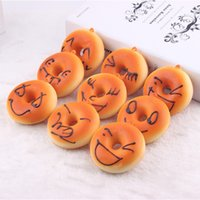bakery kitchen - 8cm rare squishy Bread donuts refrigerator magnets Soft slow rising stretch bakery sample model gift squishy packages kids kitchen