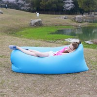 Wholesale 7 Colors Outdoor Fast Inflatable Sleeping Bag Seconds Quick Open Lazy Sleep Bed Folding Sofa Beach Sleep Bed Camping Air Sleep Sofa