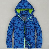 american decking - Children Outerwear Coat Sporty Kids Clothes Double deck Waterproof Windproof Boys Jackets For Y Colors Spring and Autumn