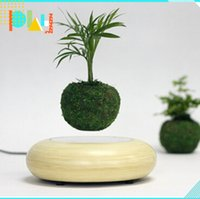 art electronic paper - 1 electronic levitation pots floating pots for bonsai mangetic floating plant potted display racks