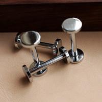 Wholesale height mm fastener Chrome plated wallet bag screw brass belt Rivet diy handmade leather key case hardware part