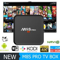Wholesale New M8S PRO Android TV Box Amlogic S905 Android KODI Fully Loaded IPTV Stream Better M8S MXQ PRO TV Box
