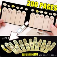 Wholesale 200 Pages Cute Ten Fingers Sticker Bookmark Tab Flags Memo Marker Sticky Notes Office Adhesive Stickers Gift