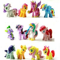 Wholesale 12 Styles Per Set My Little Pony Action Figures Toy Pony Littlest Figure For Kids cm PVC Dools Gift K53L