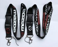 Wholesale 10pcs car Mazda Lanyard for MP3 cell phone key chain Team neck lanyard ID Holder