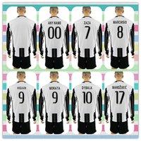 beige uniform - New Product Uniforms Kit Juventus Soccer Jersey MORAT DYBALA Higuain Home White Black stripe Long Sleeve Jerseys