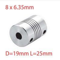 Wholesale 4pcs x6 mm CNC Motor Jaw Shaft Coupler mm To mm Flexible Coupling OD x25mm Dropshipping