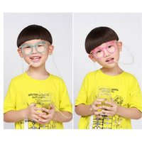 Wholesale 4 Creative DIY Cute Straw Transparent Funny Stylish Wacky Glasses Straw Household items Drinkware