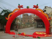 Wholesale Train m full red inflatable arch