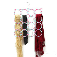 Wholesale 16 Holes Slots Belt Tie Hook Organizer Holder Fashion Rattan Weave Shawl Scarf Neat Hangers cm x cm