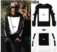 anti flash hood - HBA Hot mens t shirts fashion men clothing Hood by air hba x been trill kanye west long sleeve hip hop men t shirt