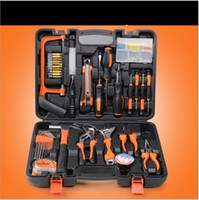 Wholesale DHL Free Manual household tool kit hardware tools group set electrician carpentry repair kit box combination Piece