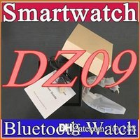 Wholesale Smartwatch Latest DZ09 Bluetooth Smart Watch With SIM Card For Apple Samsung IOS Android Cell phone inch DHL B BS