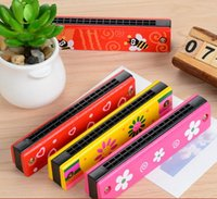 baby harmonica - Harmonica Toy Baby Children Wood And Plastic Harmonica Educational Toy Children Gift Multifunction Toy Musical Instrument b493