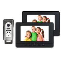 Wholesale 7 quot Color LCD Video Door Phone Wired Intercom Doorbell IR Camera Video Intercom Monitor for Home Villa F4430A