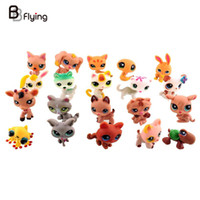 Wholesale 2016 Mini Doll Little Pet Shop Cute Cat Dog Rabbit Child Toys Set Animal Figures