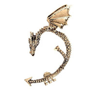 Wholesale Punk Dragon Shaped Earrings Clip Alloy Dragon Ear Cuff Clip On Earrings Game Of Thrones Jewelry