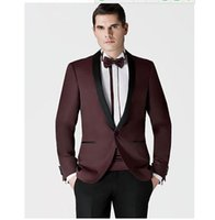 assorted custom - Customize Fashion mens Custom made Wine Red New Groom suits Assorted colors Formal Occasion men s suits jacket Pants tie