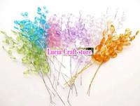Wholesale 7pcs mixed color plastic water drop bead chain Artificial flower