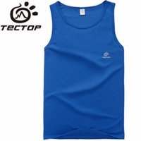 Wholesale TECTOP Summer Sports Outdoor Fast Drying Shirts Vest Waistcoat Men Camping Hiking Breathable Perspire Sleeveless Shirt Men