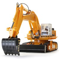 armed truck - 11 Channel Alloy excavator moving truck excavator RC toys kg Large RC car GHZ overclocking technique Living stones super sized remot