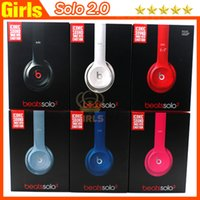 Wholesale Refurbished Headphones Beats by Dr Dre Solo solo2 Headset On Ear Headphones with retail box serial code from girls headphones