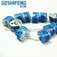 Wholesale Gorgeous racing pigeon BELG rings with personal design use for pigeon bird foot homing pigeon ring
