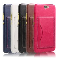 aero photo - Back Cover Multifunction Wallet luxury PU Leather Case With Stand Photo Frame Card Holder For HTC One A9 A9W Aero