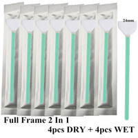 Wholesale 8pcs CMOS CCD SWAB Dry Wet Cleaner Cleaning Kit Full Frame BIG For Canon Nikon Sony pentax Camera Lens Sensor