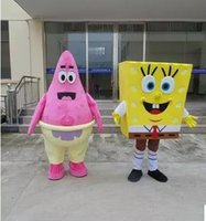 animated apparel - SpongeBob SquarePants and Patrick star mascot mascot clothing making high quality handmade clothing apparel supply free delivery of animated