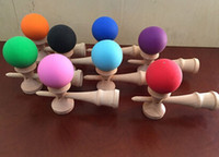Wholesale Kendama Elasticity paint rubber paint Kendama beech kendama skill ball Japanese Traditional Wood Game Kids Toy
