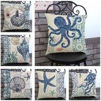 Wholesale Retro Cotton Linen Square Vintage Throw Pillow Case Shell Decorative Cushion Cover Pillowcase Compass quot x quot for Sale